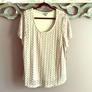 NWT Layered Lace Top Macy's JM Collection Plus 3X